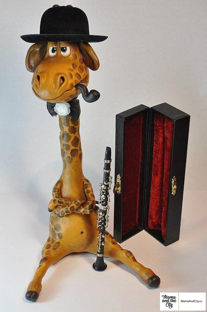 Поделки из глины жираф 29
